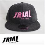 TRIAL【トライアル】キャップ Heather Black (Pink Logo)