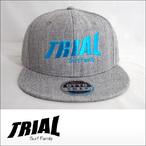 TRIAL【トライアル】キャップ Heather Gray (Light Blue Logo)