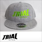 TRIAL【トライアル】キャップ Heather Gray (Light Green Logo)