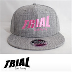 TRIAL【トライアル】キャップ Heather Gray (Pink Logo)