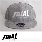 TRIAL【トライアル】キャップ Heather Gray (White Logo)