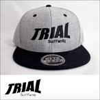 TRIAL【トライアル】キャップ Black/Heather Gray×Black Logo