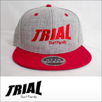 TRIAL【トライアル】キャップ Heather Gray×Red (Red Logo)
