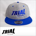TRIAL【トライアル】キャップ Heather Gray×Royal Blue (Royal Blue Logo)