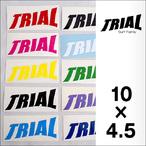 TRIAL【トライアル】抜きステッカー 10×4.5cm