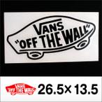 Vans【バンズ】ダイカットステッカー 26.5×13.5