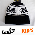 VOLCOM【ボルコム】キッズビーニー KID'S Beanie Fine Sign(BLK)