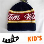 VOLCOM【ボルコム】キッズビーニー KID'S Beanie Fine Sign(NVY)