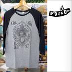 VOLCOM【ボルコム】ラグラン NOBODY 3/4スリーブTシャツ(Black/Heather Gray)サイズ:S