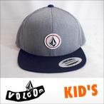 VOLCOM【ボルコム】キッズ KID'S CAP Quarter Snapback (HGR)