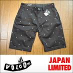 "VOLCOM【ボスコム】チノショートパンツ JAPAN LIMITED Slergo Chino Short Slim Ergo fit 21""""outseam カラーBLK"