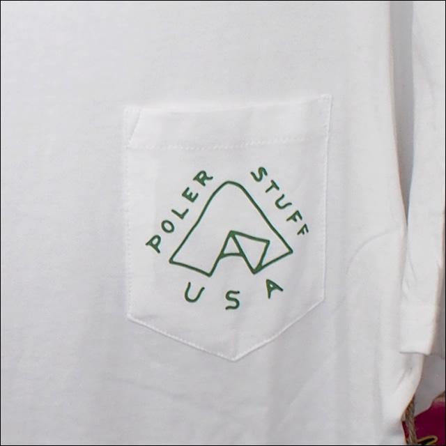Poler Camping Stuff【ポーラーキャンピングスタッフ】Tシャツ TENT POCKET TEE (White) サイズ:M
