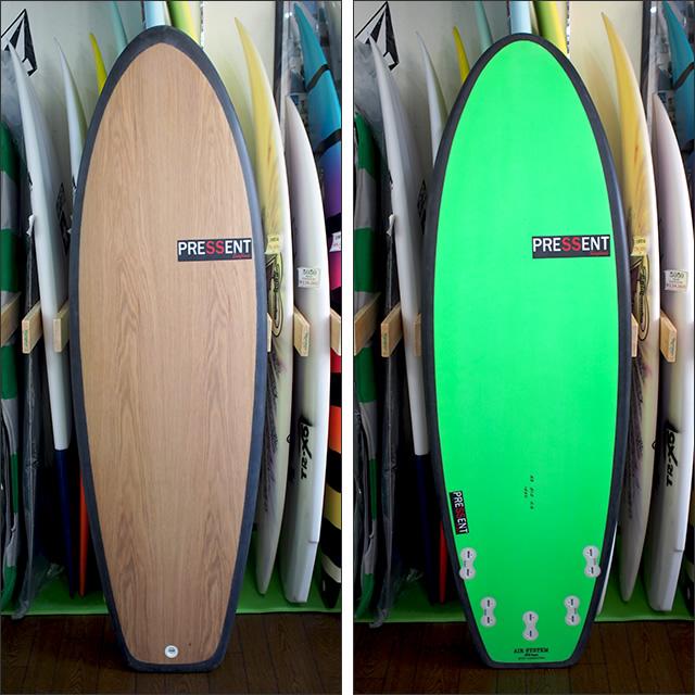 PRESSENT Surfboards【プレゼント】DRONPA Q (5fin/EPS/ノンストリンガーモデル) 5.6×51.5×5.8