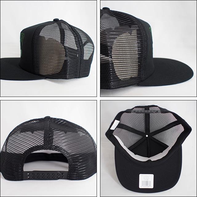 Thrasher【スラッシャー】メッシュキャップ Skategoat Mesh Cap (Black/Green Embroidered)