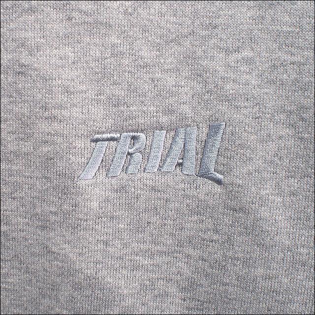 TRIAL【トライアル】ヘビーウエイトトレーナー(裏起毛) 11.5オンス (杢グレー)