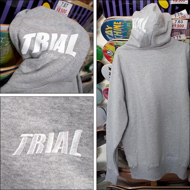 TRIAL【トライアル】ヘビーウエイトプルパーカー(裏起毛) 11.5オンス (杢グレー)