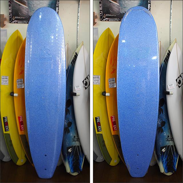 【新古】ZKID'S サーフボード 197/49/6.0 FIN、リーシュ、カバー付(P3227352,P3227353)